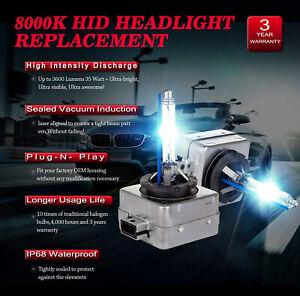 Citroen C4 C5 DS4 DS5 D1S Xenon Hid 35W Bulbs Ice Blue 8000K Low Beam Headlight
