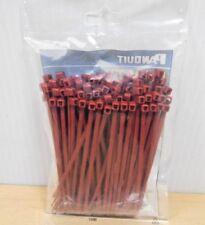 "New listing Bag Of 100 Panduit Plt1M-C702Y Cable Tie 4"" Miniature, Halar Maroon - New"