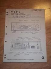 Kenwood Service Manual~VR-410 AV Surround Receiver~Original Manual
