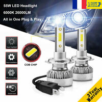 110W 26000LM H7 LED Ampoule Voiture Feux Lampe DRL Kit Phare Xenon Blanc 6000K