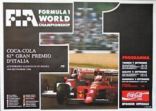 FERRARI F1 MONZA Italian Grand Prix 1990 Prost Nigel POSTER ORIGINALE 95 CM x 68 cm