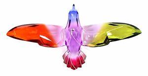 Colorful 6 Inch Hummingbird Ornament/Sun-catcher (Purple/Fuschia)
