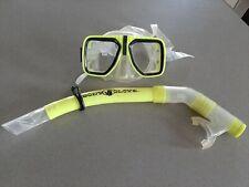 RETRO 2 Body Glove Swim Diving Mask & Snorkel Set Tempered Glass Lens Scuba