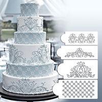 Princess Lace Cake Stencil Set Wedding Cake Cookie Border Stencils Decoration ZY