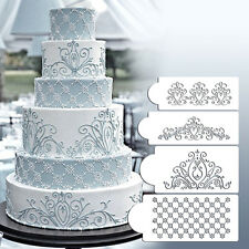 Princess Lace Cake Stencil Set Wedding Cake Cookie Border Stencils Decoration WB
