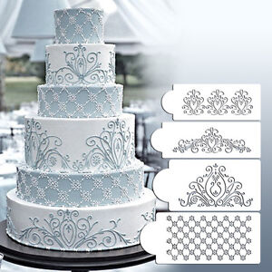 Princess Lace Cake Schablonenset Hochzeitstorte Cookie Border Stencils DekoraW2I