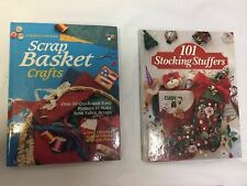 Lot of 2 Christmas craft books 1994 101 Stocking Stuffers Scrap Basket hardcover