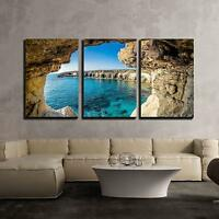 "Wall26 - Sea Caves near Ayia Napa Cyprus - CVS - 16""x24""x3 Panels"