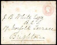 GREAT BRITAIN TO BRIGHTON Cover, Circa 1870, NICE!