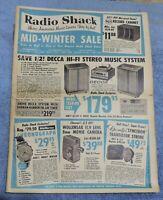 VINTAGE 1959 RADIO SHACK MID WINTER SALE SALE FLYER / CATALOG