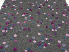 Stoff Ital. Musterwalk Walk Relief Boppel 3 Punkte grau pink rosa blau Mantelsto