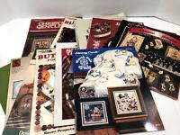15 Counted Cross Stitch LOT Holiday Christmas Santa Snowmen Pattern Books