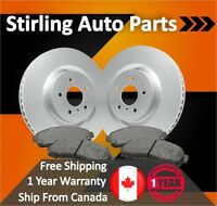 2008 2009 For Mitsubishi Lancer GTS Coated Front Disc Brake Rotors and Pads