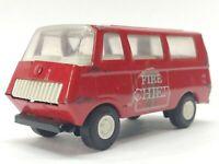 Vintage Tonka Fire Chief Van Red Pressed Steel Truck Car Toy 5 Inch