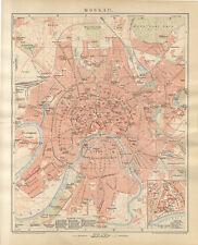 Moskau Stadtplan Russland Moskwa Kreml Roter Platz Sokolniki Brockhaus 0190