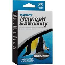 SEACHEM MultiTest Marine PH & alcalinità Test Kit (75 Test acquario)