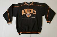 Vintage New York Knicks Lee Sport NBA Long Sleeve Black Embroidered Size L