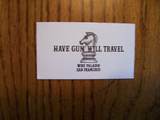 """Classic western shows  Paladin """" Have Gun Will Travel"""" Card Lone Ranger"""