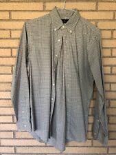 Ralph Lauren men's medium button down green/brown plaid shirt