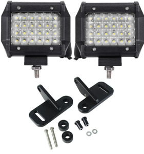 Eagle Lights A-Pillar Mount Kit & 2 LED Pod Lights for 18-21 Jeep Wrangler JL