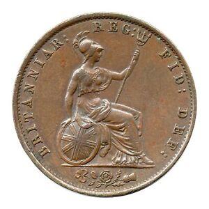 KM# 726 - Half Penny - 1/2 - Victoria - Great Britain 1854 (EF)
