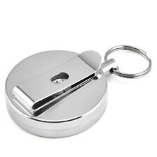 Steel Retractable Key Chain Recoil Key Ring Belt Clip Pull Chain Holder Q1Z2