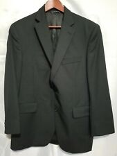 JACK VICTOR BLACK PINSTRIPED 2 BUTTON BLAZER SUIT MENS SIZE 40S 34 X 28 WOOL