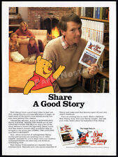 Many Adventures of WINNIE THE POOH__Vintage 1982 Print AD / Disney video promo
