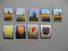 NETHERLANDS, 9 non-postal promotion stamps Joh. Enschede printers,windmill tulip