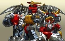 "TRANSFORMERS POSTER: Dinobots Generation 1 Group  27"" x 39.5"" Pat Lee Dreamwave"