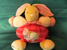 "Kaloo Bunny Soft Toy Soother Comforter Hugs Plush Red / pink 11"" approx vgc"