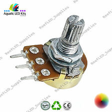 High Quality Potentiometer B10K B10K Linear 15mm Shaft, Nuts, Washers Arduino UK