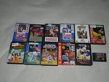BOXED SEGA GENESIS GAME LOT ARCH RIVALS FIFA SOCCER 95 CHAMPIONSHIP BOWLING NBA