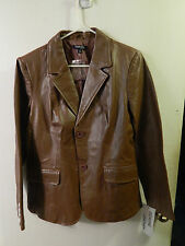 "Chadwicks of Boston (Size: 12) Brown Leather Jacket_Coat ""Beautiful!"" [NEW] Ltd."