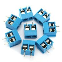 0483 - 20pcs 2 Pin Plug-in Screw Terminal Block Connector 5.08mm Pitch