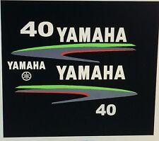 Yamaha 40 / 50 / 60 hp Outboard decal   Custom Lime Green Kit Marine vinyl