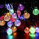50 Led Solar Powered Retro Bulb String Lights Garden Outdoor Fairy Summer Lamp