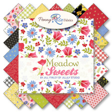 """Meadow Sweets 10"""" Squares Stacker by Jill Finley for Penny Rose Fabrics, 42 pc"""
