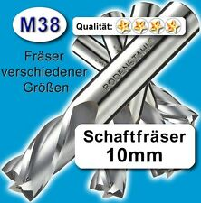 Fräser 10mm 4S.72mm f. Edelstahl Alu Messing Kunstst. hochlegierte Qualität M38