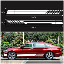 2 pcs White Car Side Door Stripes Sticker Racing Decal For Audi A4 A6 Mercedes