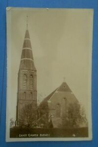 RP Postcard POSTED 1910 THE CHURCH OXHEY BUSHEY HERTFORDSHIRE