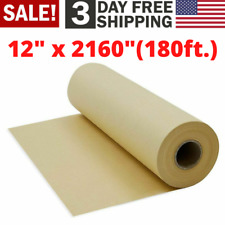 Brown Kraft Paper Roll For Crafts Gift Wrapping Packing Postal Shipping Covering