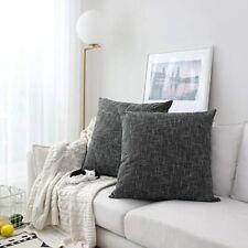 Kevin Textile Soft Faux Linen Square Decorative Cushion Cover Pillowcase 2 20x20
