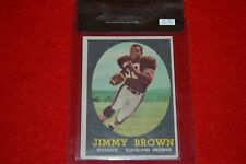 1958 TOPPS JIMMY BROWN RC #62 BECKETT RAW CARD REVIEW GRADED 5.5!!! MUST SEE!!!