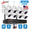 1080P HD CCTV Wireless Secuirty Camera System 8CH NVR 2.0MP WiFi Outdoor 2TB HDD