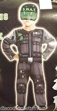 SPECIAL OPERATIONS FORCE SWAT JUMPSUIT W/ HELMET BOYS SIZE LRG HALLOWEEN COSTUME
