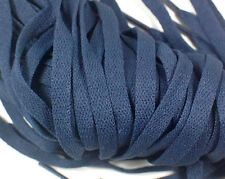 "New! 1 Pair Set Navy Blue Shoelaces Shoe Strings Lace Sneakers Flat 47"" Long"