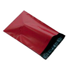 "100 Red 12x16"" Mailing Postage Postal Mail Bags"