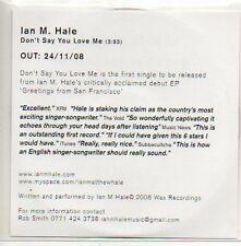 (440D) Ian M Hale, Don't Say You Love Me - DJ CD