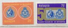 "M""sia 50th ann Inter Police  2v  mnh 1971 # E80"